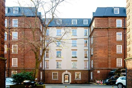 The existing buildings of Lisgar Terrace are joined by rendered link blocks (PIC Durkan)