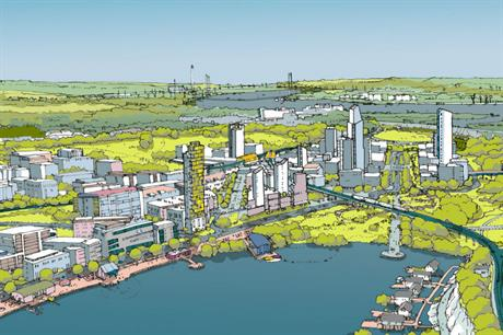 A vision for the residential and commercial heart at Ebbsfleet Central (PIC Ebbsfleet Development Corporation)