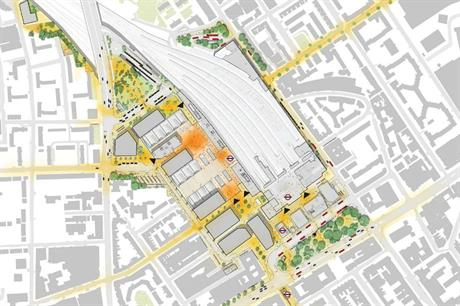 Architect Grimshaw's concept for the new station and public realm, which are planned to be a catalyst for broader regeneration (PIC Grimshaw)