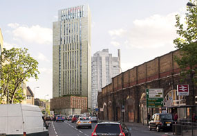 The scheme includes plans for 572 student bedrooms