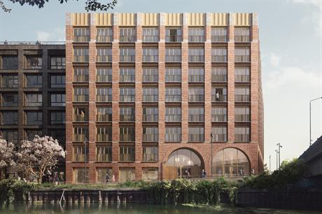 Visualisation of one of the upcoming residential buildings at Fish Island Village (PIC Forbes Massie Studio)