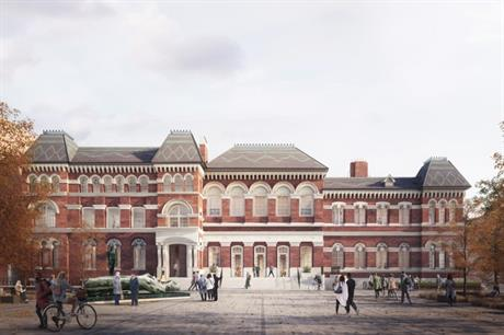 The revived Walworth Town Hall will have a new entrance looking onto a public square (PIC Darc Studio)