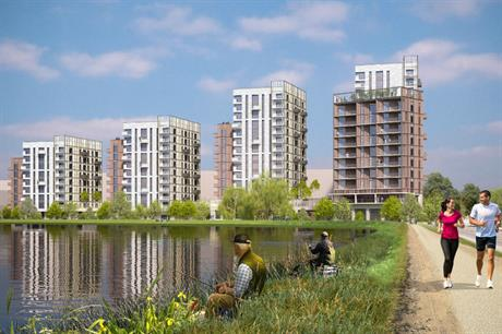 Walthamstow's new build to rent homes will be built close to its cluster of reservoirs (PIC Assael Architecture)