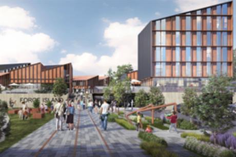 The vision for a leisure destination at Rotherham's Forge Island (PIC WYG/Rotherham Borough Council)