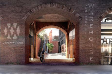 The proposed approach to the Jewellery Quarter station at Hockley Mills (PIC Glancy Nicholls Architects)