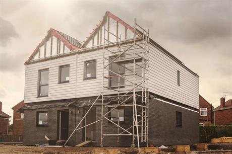 The first semi-detached homes being finished on site at Gateshead Innovation Village (PIC Home Group)