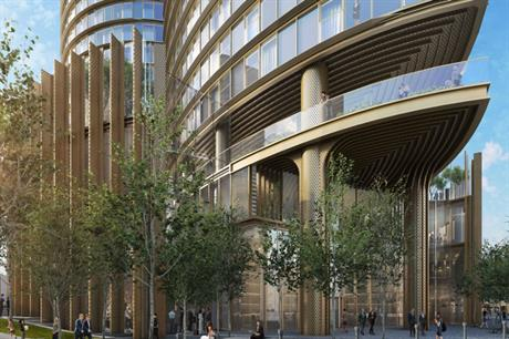 HOK's design for Greenland Group's tower (PIC Greenland Group)