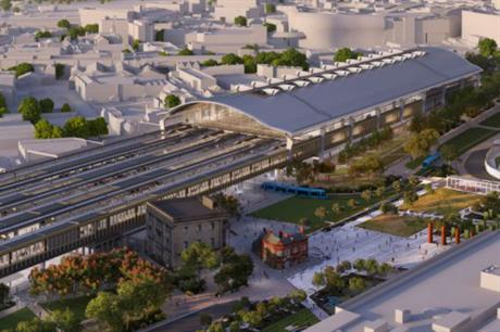HS2's planned Curzon Street station, in Birmingham, will be surrounded by major area regeneration (PIC HS2)