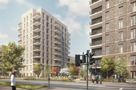 JTP's design for the Rainham estate has mid-rise high density buildings around a series of open spaces (PIC JTP)