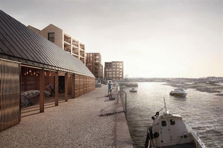 The design of the Hayle Harbour scheme embraces the industrial heritage of the location (PIC Feilden Clegg Bradley Studios)