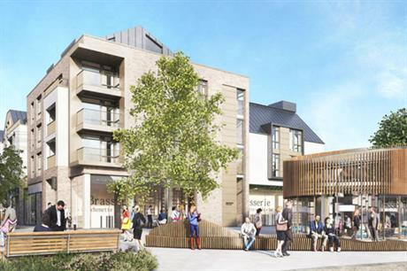 The design for the Hertford scheme sets retail and other uses in a pleasant environment with a public square