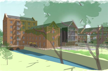 The Hodson's Mill proposal will revive a former industrial site with a mill and associated oast house