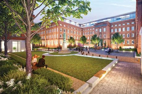 The landmark Horlicks factory will be the centrepiece of the residential development (PIC Berkeley Homes)