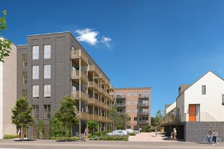 The Orchard Park design comprises two apartment blocks and a row of coach houses