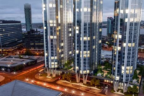 Developer Elliot Group's towers will rise to 39, 33 and 27 storeys (PIC Falconer Chester Hall)