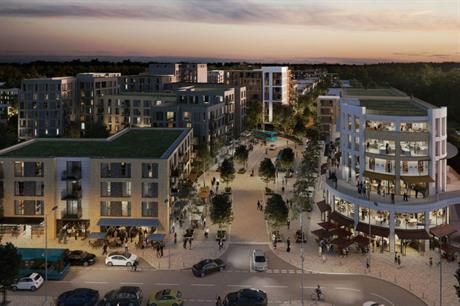 The Cheshunt Lakeside proposal combines homes with commercial space (PIC Inland Homes)