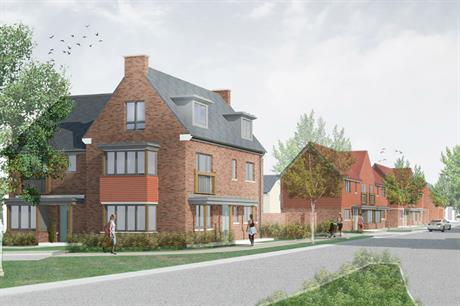 First phase homes in the Pease Pottage community include reinterpretations of local Edwardian redbrick architecture