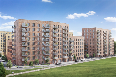The civic centre site is being developed with 919 homes in all, with completion expected in 2029