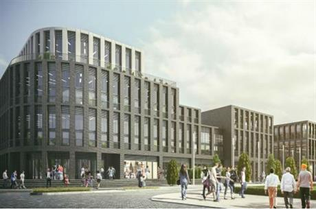 The vision for Leicester's Waterside development, which aims to start by delivering offices and homes
