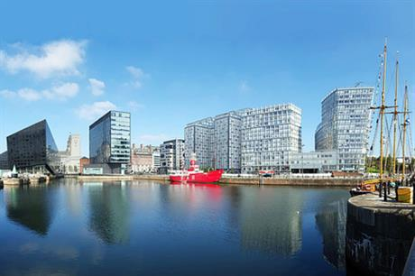 The visualisation shows how the planned PRS design fits into its waterfront context