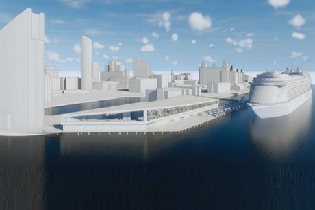A computer generated image of the vision for the cruise liner terminal (PIC Ramboll/Liverpool City Council)
