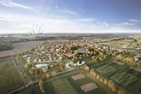 Artist's impression of how the Manydown development could look (PIC Basingstoke and Deane Borough Council)