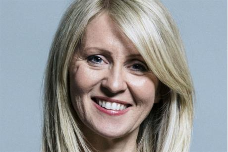 "Housing minister Esther McVey said new technology would ""unlock land and unleash the potential of housebuilders"" (PIC MHCLG"
