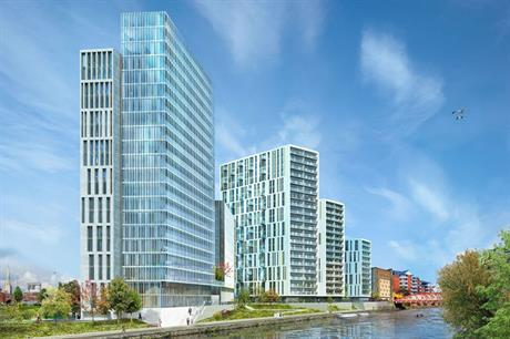 The English Cities Fund scheme in Salford will deliver homes and commercial space in a string of towers (PIC AHR)