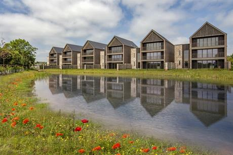 Rear mews courts with car parking at Ninewells allow homes to have clear views of the landscape (PIC PRP)
