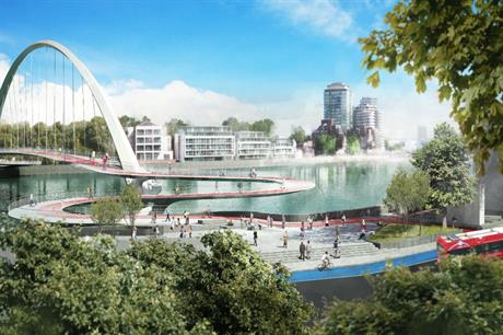 A finalist design for a new bridge over the River Thames from a team led by Ove Arup & Partners