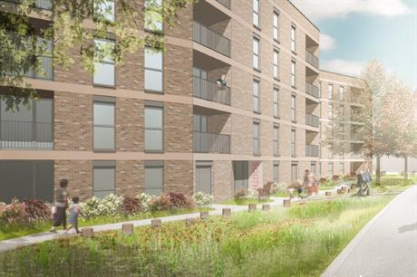A visualisation of one of the Be First proposals for affordable and sustainable new homes in Barking (PIC Be First)