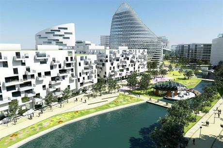 The vision for the 3,000 home mixed use development at Trafford Waters