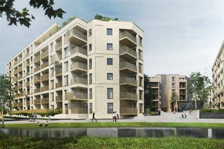 Ashford's Powergen site is being redeveloped with homes, public realm and a cafe