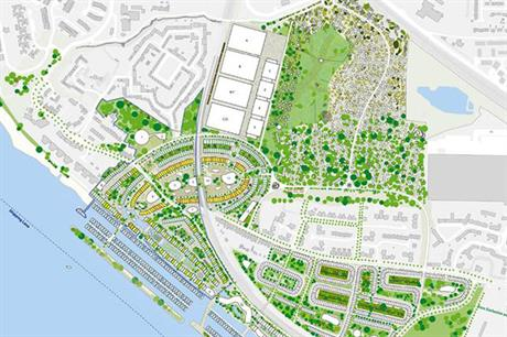 Extensive Thames-side development is proposed with film studios at the rear of the site (PIC Thurrock Council)