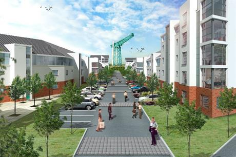 Plans for the regeneration of the former John Brown's shipyard in Clydebank
