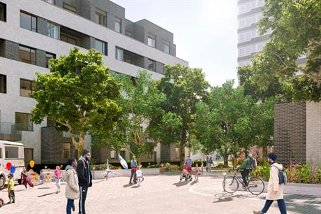 The design for Randall Close re-establishes street frontages and improves accessibility (PIC LB Wandsworth/Arup/PTEA)