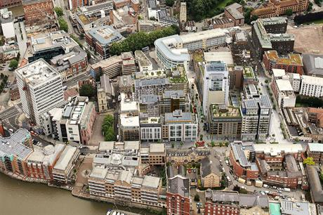 The visualisation shows how Redcliff Quarter fits into Bristol's urban grain (PIC Lyons+Sleeman+Hoare)
