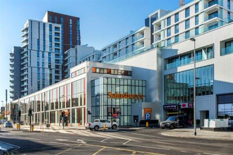 Homes have been fitted around a Sainsbury's store at Nine Elms (PIC Romag)