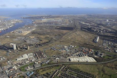 The former SSI steelworks site is within the South Tees Development Corporation area (PIC STDC)