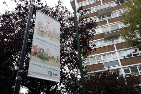 Communication activities included posters, outdoor advertising and a targeted social media campaign (PIC Brent Council)