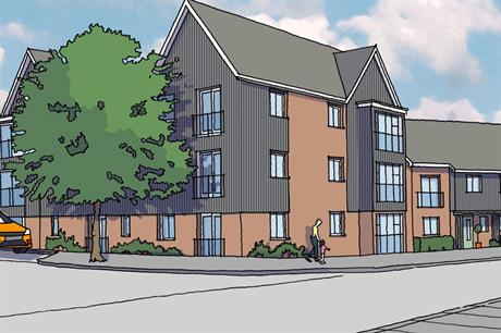 A visualisation of the finished Springhead Park development at Ebbsfleet