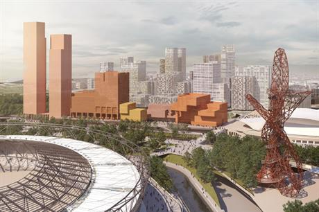 The evolving masterplan for Olympicopolis, east London's new education and cultural quarter