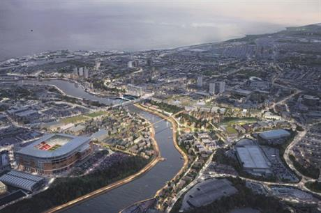 A vision showing how regeneration could transform Riverside Sunderland (PIC Sunderland City Council)