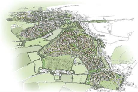The Taunton masterplan has two neighbourhoods connected by green spaces (PIC Matthew Trapnell/Barton Willmore)