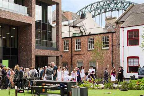 An attractive outdoor space has been created for performances and public use (PIC Live Theatre)