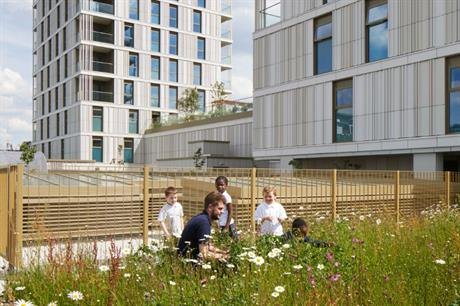 At Hawkins\Brown's Tiger Way open space has been provided at first floor level (PIC Ben Dale)