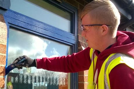 Kier offers trainees work-based training across its housing maintenance projects