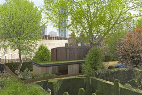 The design for the garden house at Walcot Square fits unobtrusively into the residential setting (ALL PICS FORMstudio)