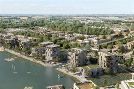 The first section of the planned new town at Waterbeach includes 6,500 homes as well as amenities