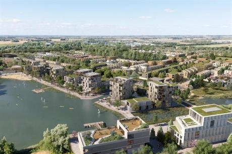 Plans for the Waterbeach new town include homes, schools, commercial space and amenities (PIC Urban&Civic/Fletcher Priest Architects)